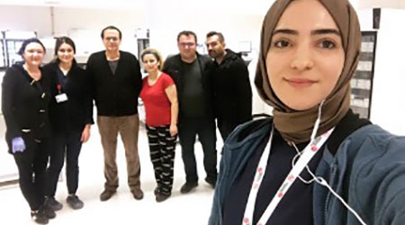 Beckman Coulter staff helping at Turkish hospital