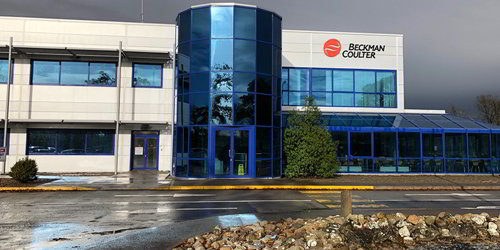 Photo of the Beckman Coulter facility in Ireland.