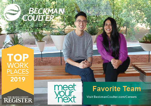 Orange County Register names Beckman Coulter top place to work in 2019