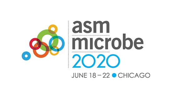 ASM Microbe 2020 logo. ASM Microbe 2020, June 18–22 in Chicago