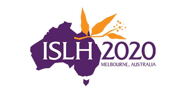 ISLH 2020 logo. XXXIII International Symposium on Technical Innovations in Laboratory Hematology Melbourne, Australia - Melbourne Convention and Exhibition Centre May 21-23, 2020
