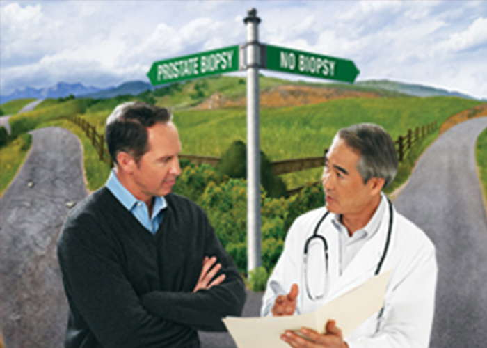 How do you decide whom to biopsy for prostate cancer