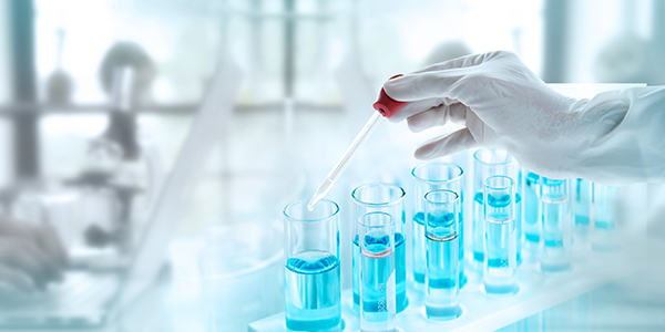 Test tubes in a laboratory help deliver continuous improvement results in the laboratory.