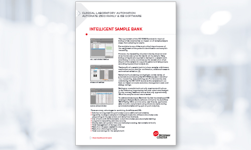 Sample El Brochure | Sample Processing Systems Automate 2500 Family Beckman Coulter