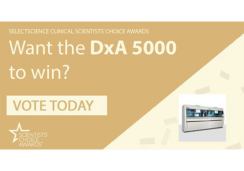 Banner to vote for the DxA 5000 to win the SelectScience Clinical Scientists' Choice Awards