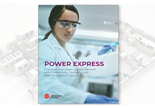 Front cover of the Power Express laboratory automation system brochure