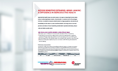 Access Sensitive Estradiol Data Sheet