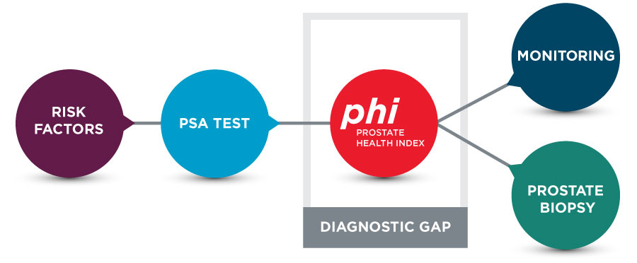 Risk factor chart with psa testing and alternatives to the gap in accurate diagnosis using phi before prostate biopsy