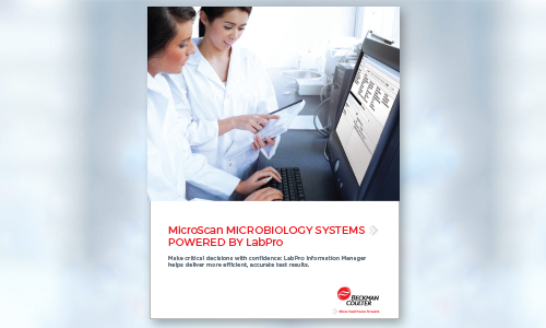 MicroScan Microbiology Systems Powered by LabPro brochure.