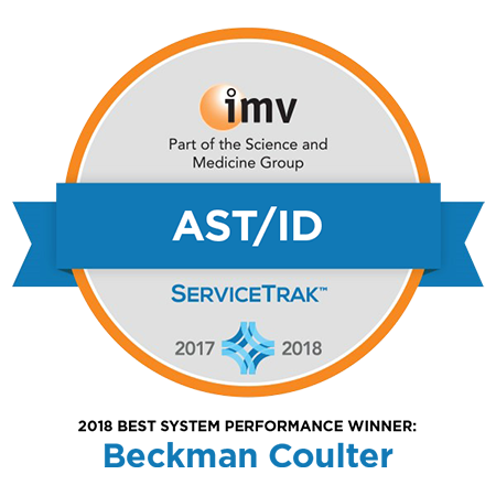 2019 IMV ServiceTrak Award for Best System Performance in the AST/ID Modality category