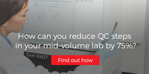 How can you reduce QC steps in your mid-volume lab by 75%?